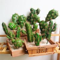 Simulation artificielle Cactus Flower Succulent plante Vivid Creative Home Décor artificiel fleur de mariage Party Chambre Bureau