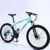 Montagne étudiant vélo Man Youth Racing Femmes Vitesse double disque Freins Off Route Acier Vélo adulte