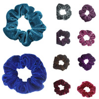 2018 new Velvet Hair Scrunchies Women Elastic Hairbands Pure...