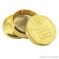 Venta al por mayor 40mm 3layer 4layer molinillo de tabaco para fumar oro más nuevo molinos de metal dorado de hierbas para fumar