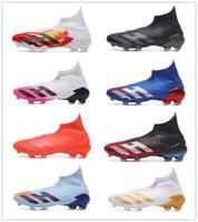 2020 Styles Mens Messi Predators modificador 20 FG chuteiras Núcleo preto brancas ativas Red Football Botas Sapatos New Futebol