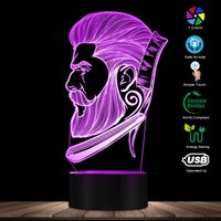Barber Shop Business LED Night Light Salão de Cabeleireiro Store Sign Creative Night Lamp 3D Illusion Optical Table Light