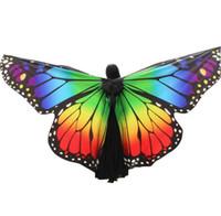 Ali di danza del ventre Arcobaleno farfalla a 360 gradi adulto e bambino Big Butterfly Puntelli di alta qualità Dance Belly ISIS Ali 20 colori