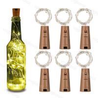 Flasche Stopper Silber LED String Lights 1m 10LED 2M 20LED Fee Streifen Draht Outdoor Party Dekoration Neuheit Lampe Kork Licht Epacket