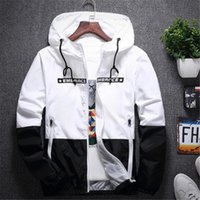 New Spring Autumn Bomber Hooded Jacket Men Casual Slim Patchwork Giacca a vento Giacca Outwear maschile Cerniera Cappotto sottile Abbigliamento di marca