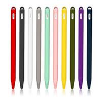 لينة سيليكون متوافق غطاء لابل رصاص 2 حامي متوافق لباد اللوحي التي تعمل باللمس قلم كم واقية حامل غطاء