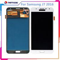 Samsung Galaxy Için yüksek Kalite LCD + Dokunmatik Ekran J7 2016 J710 J710F J710M J710H LCD Ekran Digitizer Meclisi 5.5 inç