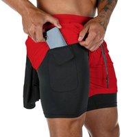 Estate Fitness Jogger Shorts allenamento corsa Sport Pantaloncini rapido respirabile Formazione asciutto Athletic Gym 2 in 1