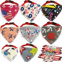 Chat foulard triangulaire écharpes pour animaux de compagnie accessoires chaud produit collier de chien bandana collier de bavoirs coton bandanas mignon
