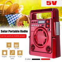 Outdoor Solar Dynamos AM / FM Radio Power Bank con LED Lampada TF USB Speaker Power Bank Funzione per il telefono di emergenza