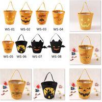 8 Styles Halloween Bonbons Seau Emballage Cadeau Filles Garçons Enfant Enfants Collection De Bonbons Toile Sac À Main Festival De Stockage Panier DHL HH9-2313