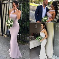 Mermaid Brautjungfernkleider Satin eine Schulter ärmellose bodenlangen Plus Size Formal Maid of Honor Kleider