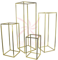 4 pcs A Set flower column stand road lead with transparent a...