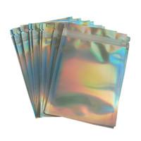 Proof PET saco de embalagem de laser saco de folha de alumínio Resealable saco Cheiro Bolsas celular acessórios cosméticos