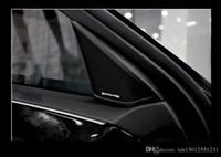 100pcs التي / الكثير 3D المعدنية للألومنيوم AMG عجلة القيادة سيارة شعار ملصق الصوت المتكلم ملصقات السيارات سيارة التصميم والديكور شارة شعار cardoor