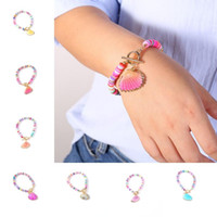 Shell Bracciali Boemia per le donne ragazze branelli dell'argilla del braccialetto di 9 stili fascino Seashell braccialetto variopinto di Summer Holiday Beach Jewelry