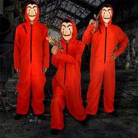 Halloween COS Dali La Casa De Papel Costume Masque Visage Cosplay La Maison de rôle papier Jouer Party Adulte cosplay argent Heist S-XXL