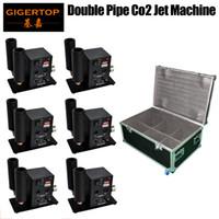 6In1 Flightcase Pack Doppelrohr TipTop CO2 Jet Machine Dual Gas Jet Düse 110V / 220V Exportqualität Kompakte Größe TP-T27B Modell