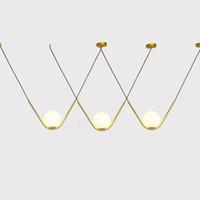 الشمال فريد V الشكل بقيادة ثريا قابل للتعديل DIY معلق الثريا الإضاءة غرفة الطعام تعليق Lamparas قطرة ضوء مصباح