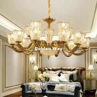 Couleur bronze antique en alliage Lustres en alliage de zinc Lampe suspension Salle à manger Hall Hanging lumières LED E14 AC Bougie Ampoules