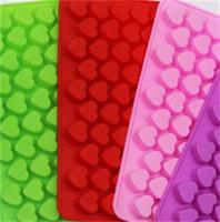55 Griglie in silicone Stampi fai da te cottura Strumenti Cuore cioccolato di forma della muffa della muffa del ghiaccio Facile Sformatura durevole 1 5mH E2