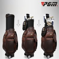 2019 Retractable Leather Golf Bag Large Capacity Golf Standa...