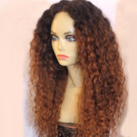 Dark Root 1b 30 Ombre Full Lace Wigs Virgin Curly Human Hair...