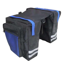 Black Cycling Bicycle Saddle Bag Bike Bags PVC and Nylon Waterproof Double Side Rear Rack Tail Seat Bag Pannier Bicycle Accessories