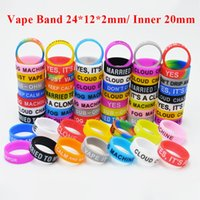 Vape Band Silicone Rings with Customized Logo Rainbow Rubber...