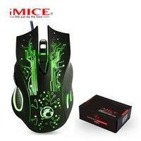 IMICE 게임 마우스 유선 컴퓨터 마우스 USB Silent 게이머 마우스 5000 DPI PC 뮤직 6 버튼 인체 공학적 인 Magic Game Mice X9 노트북 용