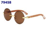 a373020359 Marca sin montura gafas de sol redondas para hombres mujeres gafas de  cuerno de búfalo sin