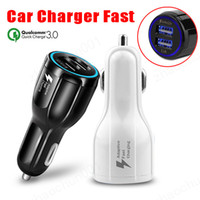 Quick Charge 3.0 Charger QC 3.0 5V 9V 12V Dual USB Charger for iPhone Samsung Tablet Travel Car-Charger