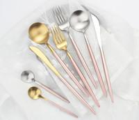 Hot Sale 4 peças de aço SS304 Português Louça inoxidável Faca, Garfo, Colher utensílios de cozinha Food Louça Talheres Set