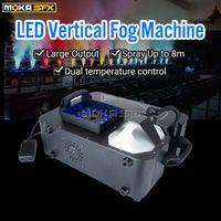 24 * 1W RGB LED Máquina de nevoeiro DMX Pulverização Máquina de fumaça vertical 1500W Efeito Fogger Máquina para Decorações de Halloween