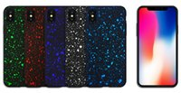 Wholesale Flow Iphone - For iPhone X Case 3D Ultra Thin Bling Fluorescence Stars Starry Sky Flowing Frosted Visual Effect Hard PC Cover For iPhone 8 7 Plus 6 6S