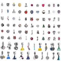 bestes armband großhandel-Heißer Verkauf Beste Qualität Silber 50 teile / los Gemischt Pandora Europäischen Charme Perlen Fit Schlange sicherheitskette DIY Charme Armband Schmuck Weihnachten
