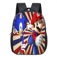Cartoon Mario / Sonic Backpack Kids School Bags Baby Toddler Backpack Kids Kindergarten Bag Boys Girls Bookbag Melhor presente