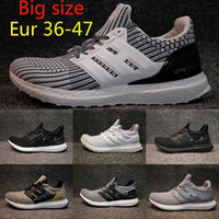 Wholesale Womens Size 12 Boots - 2018 Big size Ultra Boost 4.0 Triple Black white Man Running Shoes womens Oreo Core Black Grey ultraboost sports Sneakers US 5-12