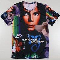 Wholesale Solid Color Fans - T-shirt 3d printed men women pop star michael jackson fans team player t shirt summer style short sleeve male female unisex hip hop tops tee