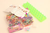 Wholesale rainbow loom - Set OF Rainbow Loom Bands DIY Colorful Bands Bracelet KIT For Family Novelty SETS