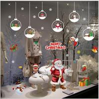 Wholesale Glass Door Showcase - Christmas Decorative Stickers Snowflake Window Glass Door Mural Sticker DIY Window Decorative Wallsticker Art Showcase Decals Decoration