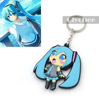 Wholesale Hatsune Miku Keychain - Hot Anime Cute Hatsune Miku Keychain Keyrings Pendant PVC