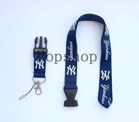 Wholesale Camera Strap Design - WHOLESALE! New York YankeesBaseball team Design Detachable CELL PHONE Lanyard , Keychain, Camera Strap 50pcs