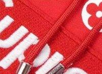 Wholesale Fan Sweaters - 2017p fans fashion men's women's box logo hoodie casual brown red sweatshirt street sweater hooded hoodie.