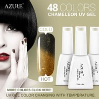 Wholesale Color Changing Nail Polish Temperature - 2016 Brand Azure top sales Halloween nail gel charming chameleon temperature change color UV gel nail polish 1pcs 30 colors optional