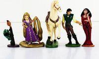 Wholesale Rapunzel Toys Wholesale - 2016 Tangled Rapunzel Princess PVC Action Figures toys model Dolls Gifts for Children Kids Toys 5pcs set free shipping