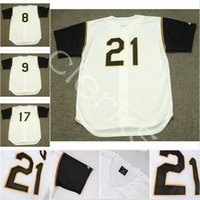 Wholesale yellow dock for sale - 1966 Pittsburgh PIT Roberto Clemente Bill Mazeroski Dock Ellis Willie Stargell Manny Sanguillen Al Oliver Home Jerseys