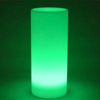 turm führte lichter großhandel-Freies Verschiffen wunderbare LED Tower Säule kleine Zylinder Stehleuchte im Freien runden Spalte Lichter der Outdoor-Landschaft Beleuchtung