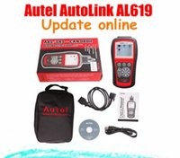 Wholesale Online Connector - [AUTEL Dealer] 2015 100% Original Autel AutoLink AL619 OBDII CAN ABS And SRS Scan Tool Update Online Free shipping