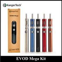 Wholesale Passthrough Dual Coil - Authentic Kanger EVOD Mega Satarter Kit 1900mAh Battery Bottom Dual Coil Beginner Kit E Cigarette USB Passthrough 5 Colors